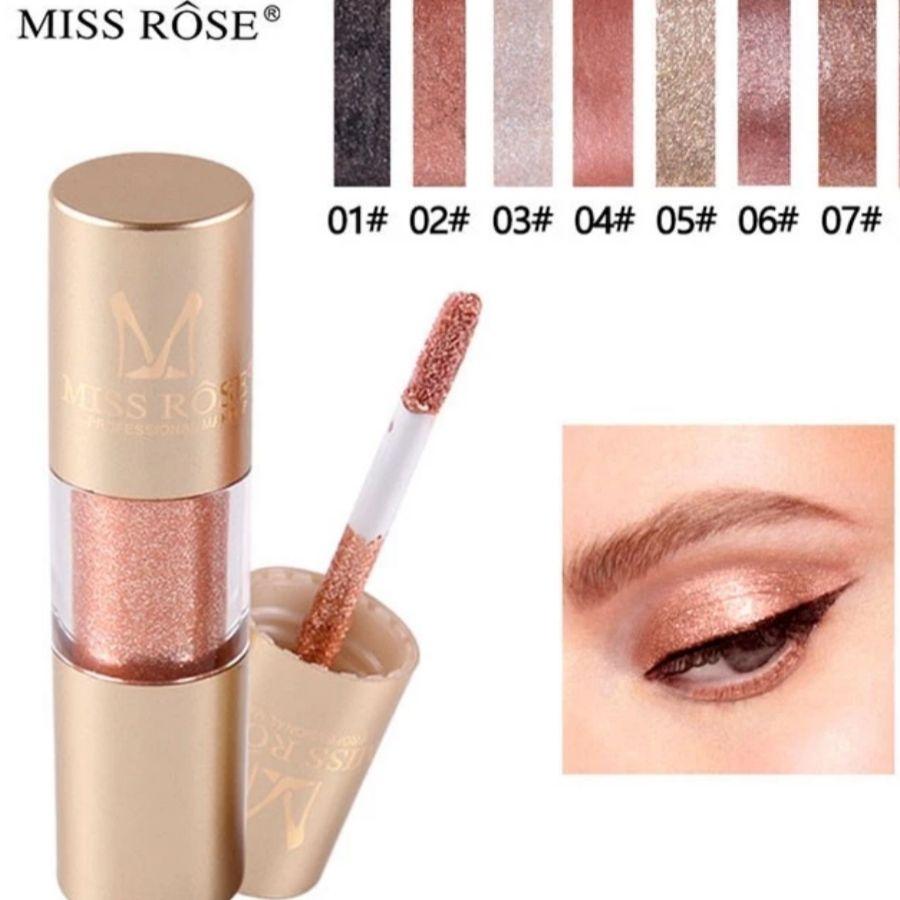 Sombra Líquida Glitter e Glow Miss Rosê