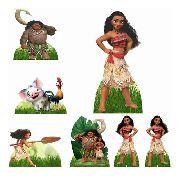 Kit 2 Decoração Festa Totem Display 8 peças Moana