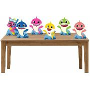 Kit 6  Displays De Mesa para festa Baby Shark