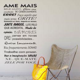 Adesivo Decorativo Frase - Ame Mais