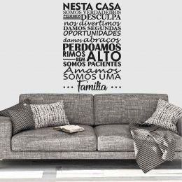 Adesivo Decorativo Frase - Nesta Casa