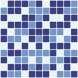 Kit Revestimento 30x30cm Lavável Tons de Azul