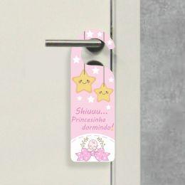 Aviso de Porta - Shiuuu Princesinha Dormindo