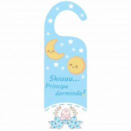 Aviso de Porta - Shiuuu Príncipe Dormindo