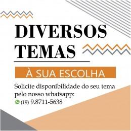 ESCOLHA SEU TEMA - Kit Decoração Festa Display 6 peças