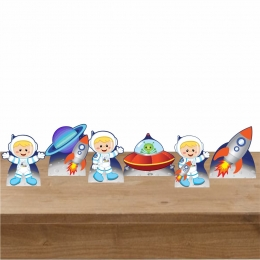 Kit 1 Decorativo 6 Displays de Mesa Astronauta 3