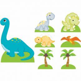 Kit 2 Decoração de Festa Totem Display Dinossauros-7 Peças