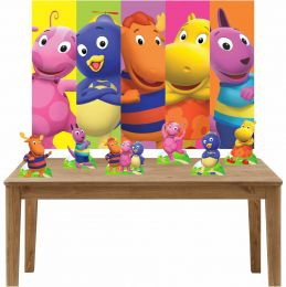 Kit 6 Displays de Mesa e Painel Backyardigans