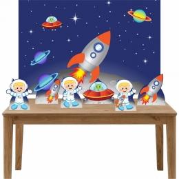 Kit 6 Displays de Mesa e Painel Astronauta 3