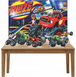 Kit 6 Displays de Mesa e Painel Blaze Monsters Machines