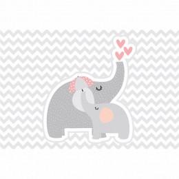 Kit 6 Displays de Mesa e Painel Elefante Rosa