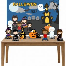 Kit 6 Displays de Mesa e Painel Hallowen