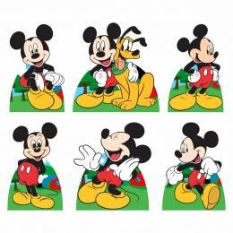 Kit 6 Displays de Mesa e Painel Mickey Mouse