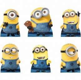 Kit 6 Displays de Mesa e Painel Minions