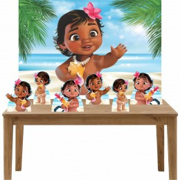 Kit 6 Displays de Mesa e Painel Moana Baby