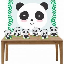 Kit 6 Displays de Mesa e Painel Pandas