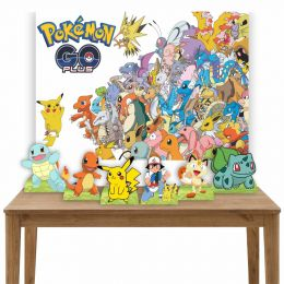 Kit 6 Displays de Mesa e Painel Pokemon