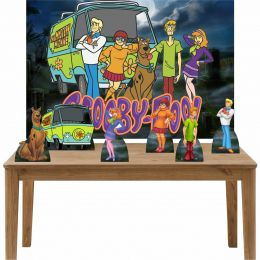 Kit 6 Displays de Mesa e Painel Scooby Doo