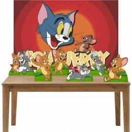 Kit 6 Displays de Mesa e Painel Tom e Jerry