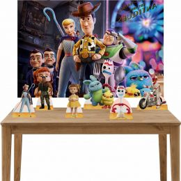 Kit 6 Displays de Mesa e Painel Toy Story 4