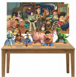 Kit 6 Displays de Mesa e Painel Toy Story