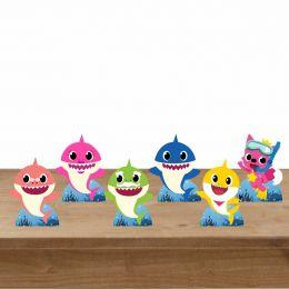 Kit 6  Displays De Mesa para festa Baby Shark