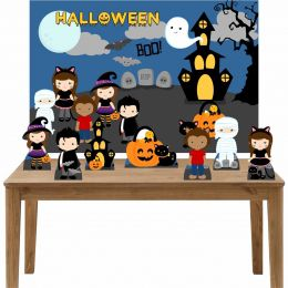 Kit 7 Displays de Mesa e Painel Halloween