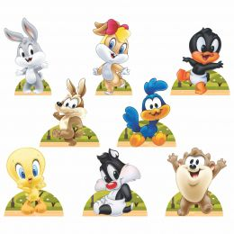 Kit 8 Displays de Mesa e Painel Baby Looney Tunes