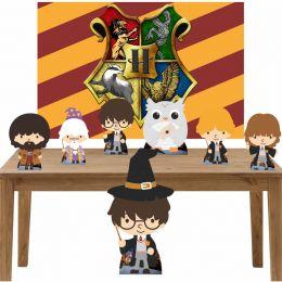 Kit Decoração de Festa Totem Display 8 peças Harry Potter