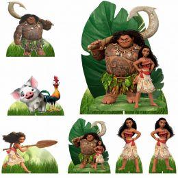 Kit Decoração de Festa Totem Display 8 peças Moana