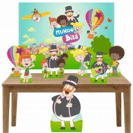 Kit Decoração de Festa Totem Display 8 peças Mundo Bita