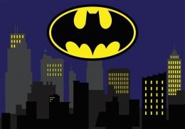 Kit Decoração de Festa Totem Display 8 peças Batman