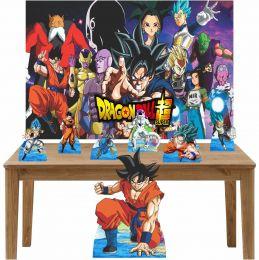 Kit Decoração de Festa Totem Display 8 peças Dragon Ball