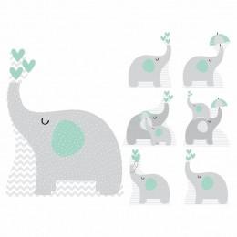 Kit Decoração de Festa Totem Display 8 peças Elefante Verde
