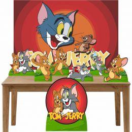 Kit Decoração de Festa Totem Display 8 peças Tom e Jerry