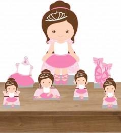 Kit Decoração de Festa Totem Display Bailarina 3 - 7 Peças