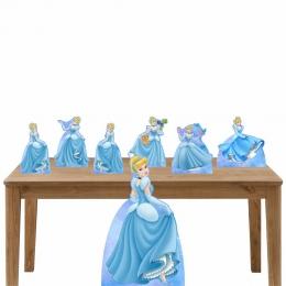 Kit Decoração de Festa Totem Display Cinderela- 7 Peças