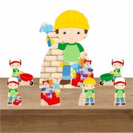 Kit Decoração de Festa Totem Display Construtor 7 Peças