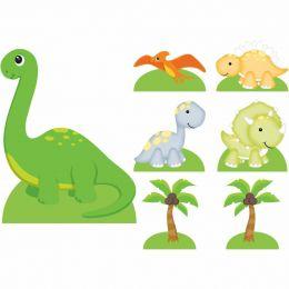 Kit Decoração de Festa Totem Display Dinossauros - 7 Peças