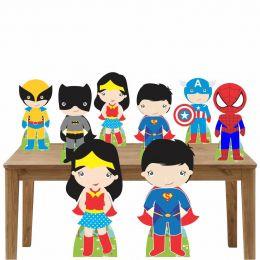 Kit Decoração de Festa Totem Display Herois Baby - 8 Peças