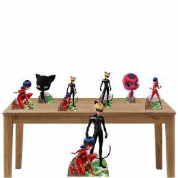 Kit Decoração de Festa Totem Display Ladybug - 7 Peças