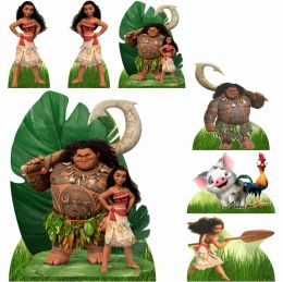 Kit Decoração de Festa Totem Display Moana - 7 Peças