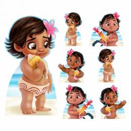 Kit Decoração de Festa Totem Display Moana Baby 7 Peças