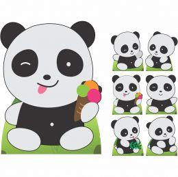 Kit Decoração de Festa Totem Display Pandas - 7 Peças