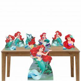 Kit Decoração de Festa Totem Display Pequena Sereia  7 Peças