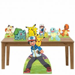 Kit Decoração de Festa Totem Display Pokemon - 7 Peças