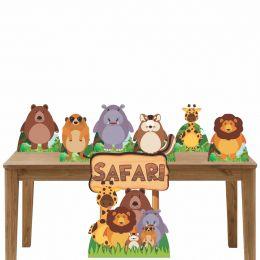 Kit Decoração de Festa Totem Display Safari 7 Peças