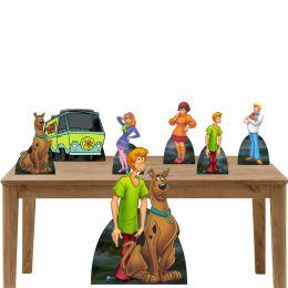 Kit Decoração de Festa Totem Display Scooby Doo - 7 Peças