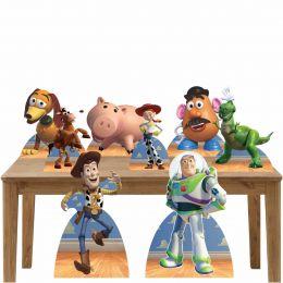 Kit Decoração de Festa Totem Display Toy Story - 8 Peças
