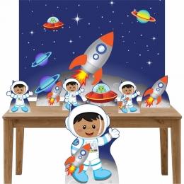 Kit Decoração Festa Totem Display 8 peças Astronauta 2